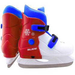 Коньки ледовые раздвижные Larsen. Slide RED, размер S (29-32)
