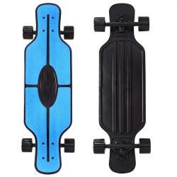 Скейтборд Longboard Shark Tir 31, с сумкой, цвет синий