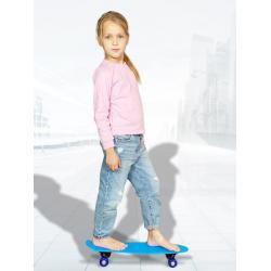 Скейт детский для начинающих, 55 см (голубой)