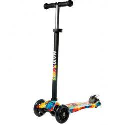 Самокат Junior, со светящимися колесами, рисунок радуга