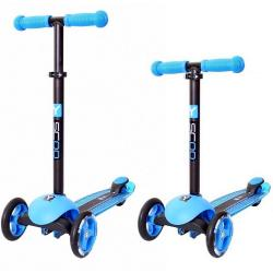 Самокат трёхколёсный Trio Diamond 120, цвет голубой