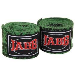 Бинты боксерские Jabb JE-3030, зеленые, черепа 3,5 м