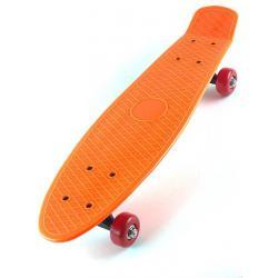 Скейт детский, для начинающих, 41 см, цвет оранжевый