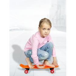 Скейт детский для начинающих, 55 см, цвет оранжевый